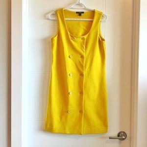 Banana Republic banana yellow button up dress